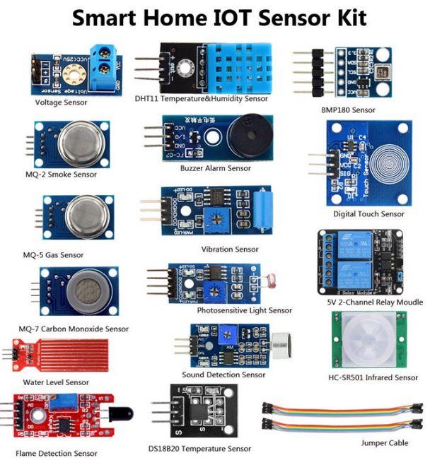 Kit 16 Sensores Smarthome Arduino Sku 504g1