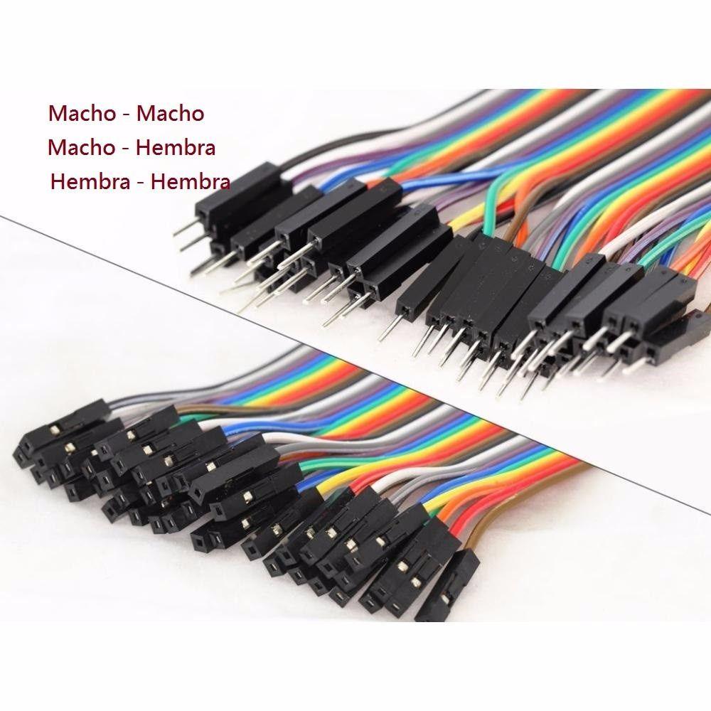 20cm Cable Macho a Macho Hembra Dupont Cable de Puente para Arduino Breadboard 120 un